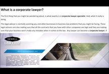 What is corporate lawyer