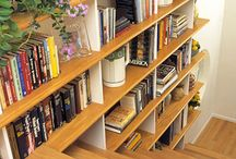 Stairs & bookshelves