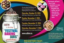 """AIBTM is hosting """"FESTIVAL BAKING JARS"""" Workshops on Oct. 31 and Nov. 1/3/7 !!!!"""