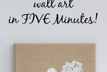 burlap art easy