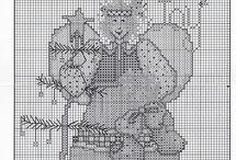 punto cruz / esquemas para bordar