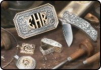 Custom Silver Collection / Eddie Harris' Custom Hand Engraved Silver Designs