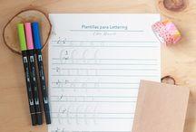 lettering abecedario
