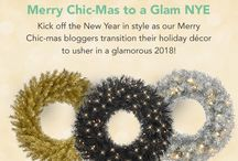 Merry Chic-mas to a Glam NYE 2017 Blog Hop / Welcome 2018 with glitz and charm! Witness how our blogger friends transform their fabulous Treetopia Christmas trees into a celebratory centerpiece.