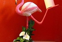 Funky flamingoes