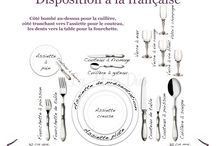 L'Art de la table / how to set a nice table. fine dining