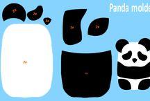feltro porta celular panda