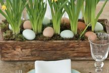 Table setting easter