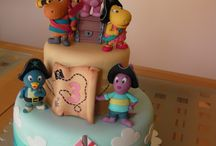 "Backyardigans cake and figures by Studio ""Fondant Design Ana"" / by Figurice Za Torte"