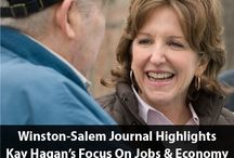 Jobs & The Economy / Jobs and the economy are Kay's number one priority. As North Carolinians work hard to recover from the economic downturn, Kay is leading the fight to boost our economy and grow jobs for middle class families right now.  / by Kay Hagan