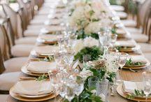 Green-white wedding