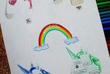 tekeningen voor Roos