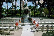 Buena Vista Palace Weddings / Orlando Harpist - Buena Vista Palace near Disney World. #buenavistapalacewedding #gazebo #Orlando #harpist #wedding