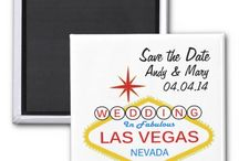 Las Vegas Magnets / Assorted magnets for weddings, married, save the date and more.