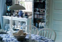 the use of blue in a home / decorating with all things blue