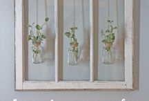 DIY Old Window Projects / Not sure what to do with your old windows once you've had them replaced? Use them as an art piece in your home.  This board has lots of diy window project inspiration to help you get started!