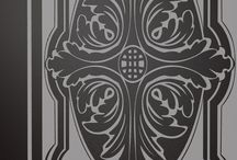 Drzwi szklane Klasiko 02. Glass door Klasiko 02 / Drzwi szklane Klasiko 02 w wersjach na szkle matowym i lakierowanym. Glass door Klasiko 02 in etched and lacquered variants