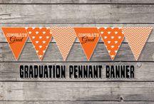 orange and black graduation ideas / by Kristen LaBrue Sowell