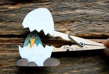Kids craft: clothespin