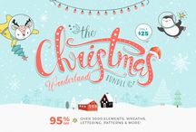 Christmas Designs / Fonts and Graphics for Christmas designs