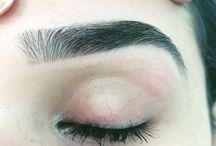 Sobrancelhas e cílios (Eye Brows and lashes extention) / Meu trabalho (My Work)