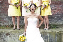 Bride & Bridesmaids   Bouquets   White & Yellow