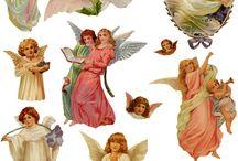 Decoupage anioly