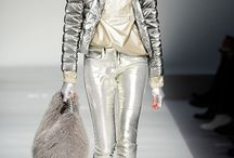 Silvers and Golds / Bags, accessories in golds and silvers.