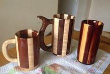 boccale di legno