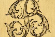 Lettrines, typographie et calligraphie