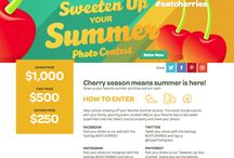 Sweeten Up Your Summer Photo Sweepstakes / Cherry season means summer is here! Take a photo showing off your favorite Summer activity. This could include a picnic with your family, sporting event, outdoor BBQ or your favorite way to eat sweet Superfresh cherries!  Pin your photo to Pinterest and don't forget to use the hashtag #EATCHERRIES  / by Superfresh Growers