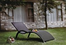 Garden Benches and Relaxer Chairs / A collection of outdoor relaxer chairs and garden benches, perfect for chilling out in the sunshine!