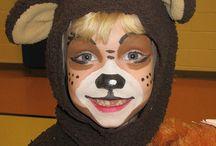 Bear face paint