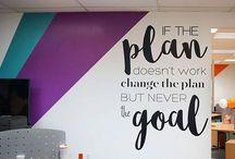 School mural wall