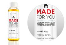 eSalon Products / At eSalon, we're devoted to sparking a hair affair to remember! From our much-loved Made For You Custom Hair Color to our ultra-nourishing (& color-embracing!) hair care collection, we've  developed unique & professional products that we're confident you'll adore. / by eSalon Hair Color