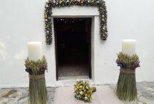 wedding decoration - Διακόσμηση Γάμου Athens Greece / Rustic, Outdoor, Wedding floral decor by anais decor in Athens Greece