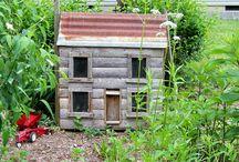 Miniature log cabins / by Linda Slaughter