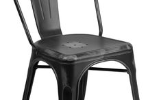 RESTAURANT TOLIX STYLE METAL DINING CHAIR