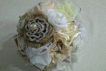 Casamentos - Buque de noivas com flores de tecido / Buque 100% artesanal com flores de tecido para noivas.