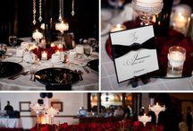 Romantic Red, Black & Silver Wedding
