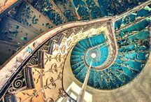 Spiral staircases / Love the light and organic form, and the stories they tell...
