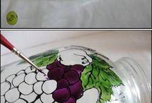befőttes üvegek -  painted jars