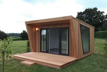 Garden offices / Inspiration for a contemporary garden office for a small space.