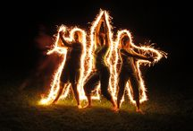 Parkour Pals: Sparkler/light photos