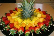 Adornos frutas
