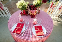 How about a charming backyard bbq with our red and white gingham table clothes! / by Cloth Connection