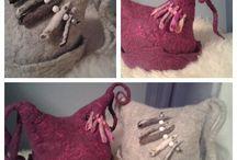 by itu - huopahattu - Riekonriivaaja / Kasin huovutettu kotimaisesta lampaan villasta