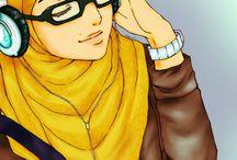 hijabers cartoon