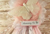 pink & white butterfly baby shower