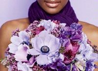 Blue & Purple  / all shades of blue and purple flowers and event details / by Laurie Arons